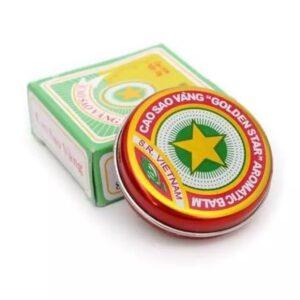 Golden Star Aromatic Balm Vietnamese Cao Sao Vang Ointment