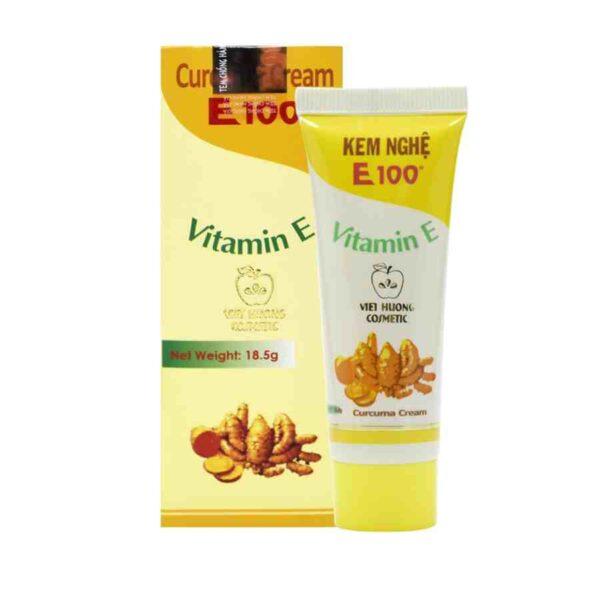 Kem Nge E100 Curcuma Turmeric Cream Vitamin A E Whitening Moisturizing.