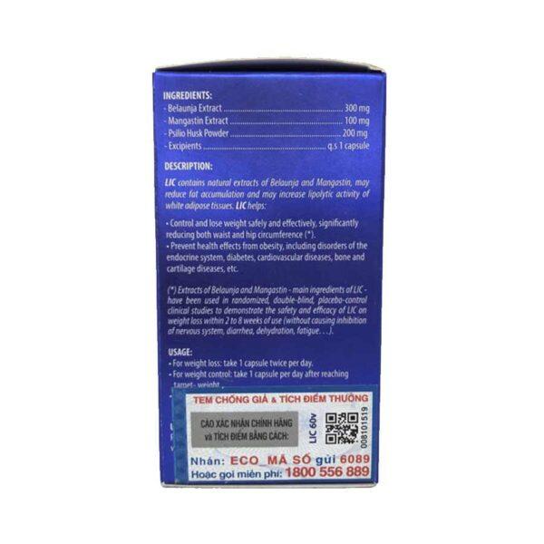 lic weight loss 30 capsules