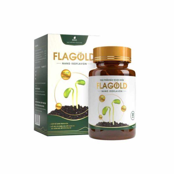 FLAGOLD Nano Isoflavon - Helps in improving female hormone - 30 capsules