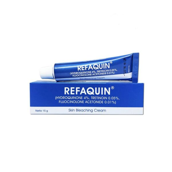 Refaquin cream is intended for the treatment of dark spots that are associated with facial melasma