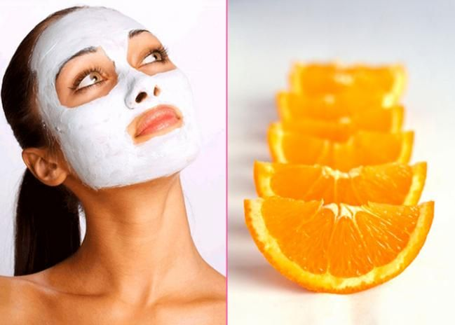 Orange with clay mask