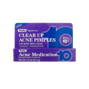 rugby acne medication benzoyl peroxide gel