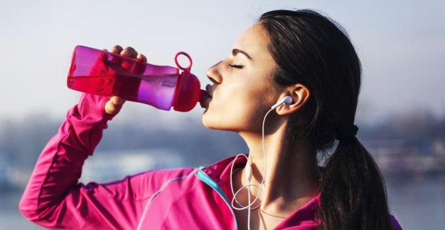 Do not drink water when exercising
