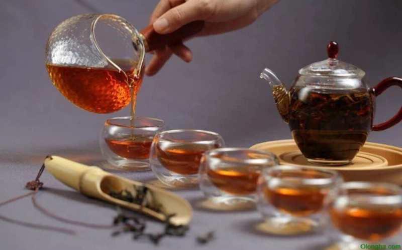 Black asian tea