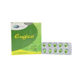 Eugica Xanh treatment for cough, sore throat, runny nose, perspiration, colds - 100 capsules